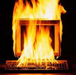 Incendio ordenador